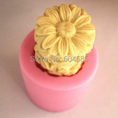 Columna de la margarita molde del jabón fondant cake moldes de jabón del molde d