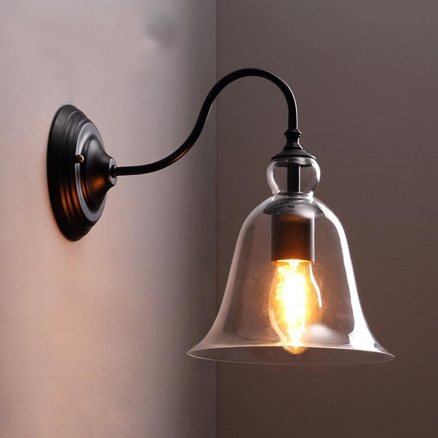 € 62.89 50% de réduction|Américain pays Edison applique en verre moderne  applique murale pour lit lumière lecture rétro miroir salle de bain lumière  ...