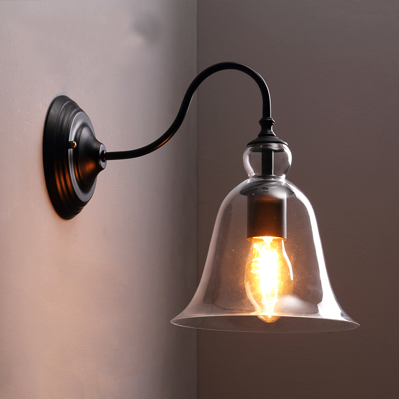 American Country Edison Wall Lamp Glass Modern Wall Sconce