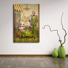 Abe Lincolnes Grinding Meat For Lunch By Mark Ryden Art Canvas Poster Oil Painting Wall Picture Print Home Bedroom Decoration HD