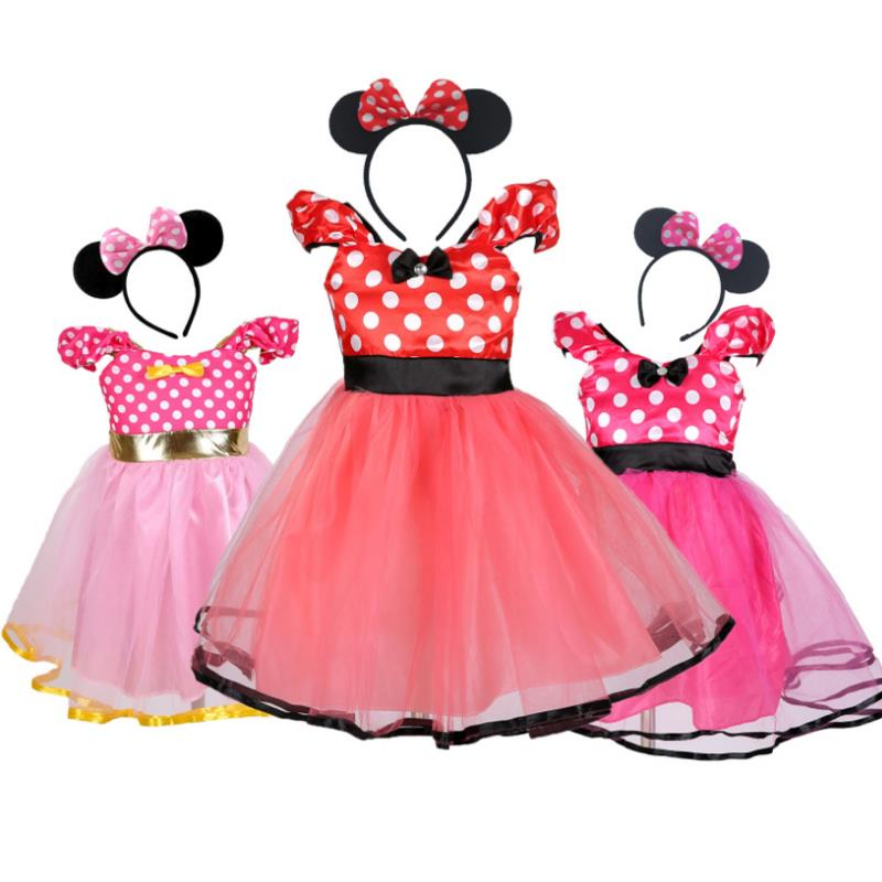 Infant Minnie Mouse Costume | 2019 Sale Moana New Kids Dress Minnie Mouse Princess Party Costume Infant Clothing Polka Dot Baby Halloween Girls Dresse