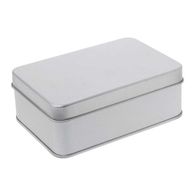 Narin Küçük Metal Kalay Gümüş saklama kutusu Durumda Organizatör Para Için Para Şeker Anahtar Organizasyon