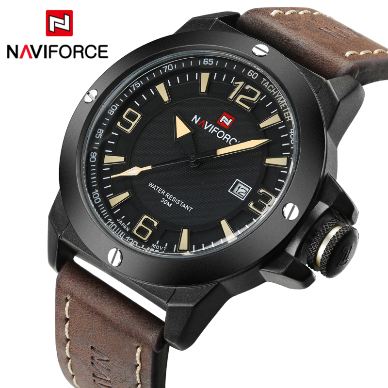 New Top Luxury Brand Naviforce Men Classic Military Watches Men's Quartz Date Clock Male Sports Wrist Watch Relogio Masculino