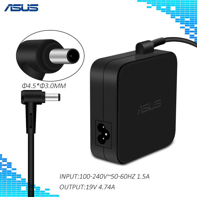 ADP-90YD B 90W 19V 4.74A 4.5*3.0mm Power Adapter Charger With Power Cord For ASUS UX51VZA UX51VZ UX51V U500VZ U500V Laptop