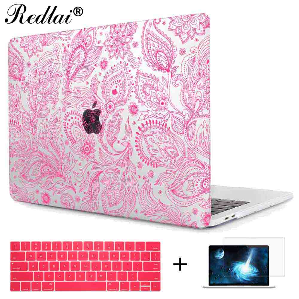 Case For Macbook Pro 13 A1706 A1708 Cover Beautiful Floral Seamless Laptop Sleeve for Mac Book