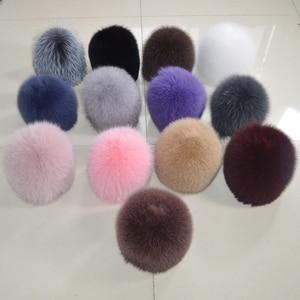 Image 2 - 2020 New Women Winter Real Fox Fur Hat Elastic Warm Soft Fluffy Genuine Fox Fur Cap Luxurious Quality Real Fox Fur Bomber Hats