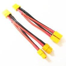 XT60 параллельные Deans T plug серии жгут батарея соединительный кабель двойной Расширение Y сплиттер силиконовый провод