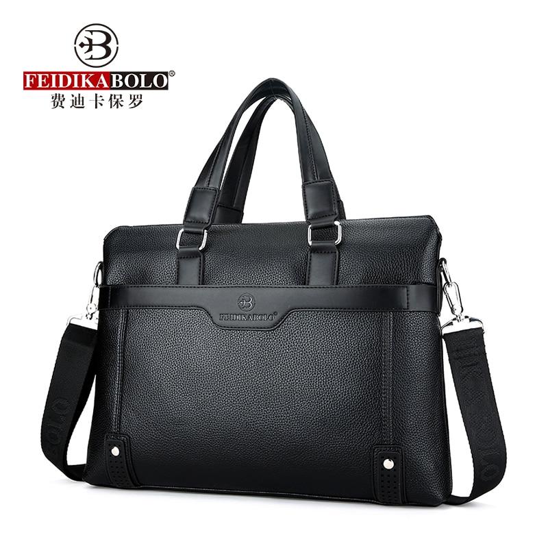 FEIDIKABOLO Large Capacity Men's Handbag Fashion High-Quality Business Men Bag 14 Inches Men Computer Bag Shoulder Messenger Bag