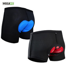 WOSAWE Breathable Cycling Underwear Men Gel Pad Bicycle MTB Shorts Riding Bike Outdoor Sports Clothes Shockproof Cycle Shorts цены онлайн