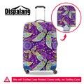 Dispalang новый фиолетовый листьев печати путешествия багаж чемодан защитный охватывает относятся к 18-30 дюймов чехол водонепроницаемый путешествия аксессуары