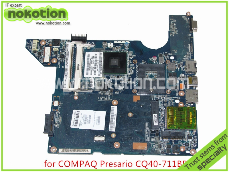NOKOTION 519588-001 519099-001 JAL50 LA-4101P For HP Compaq CQ40 Laptop motherboard GL40 DDR2 Mainboard full tested nokotion mainboard nal70 la 4106p for hp compaq presario cq41 laptop motherboard 590330 001 hm55 ddr3 tested