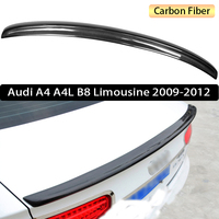 For Audi A4 A4L B8 Limousine 2009 2012 Rear Wing Spoiler, Trunk Boot Wings Spoilers Carbon Fiber 3m Paste