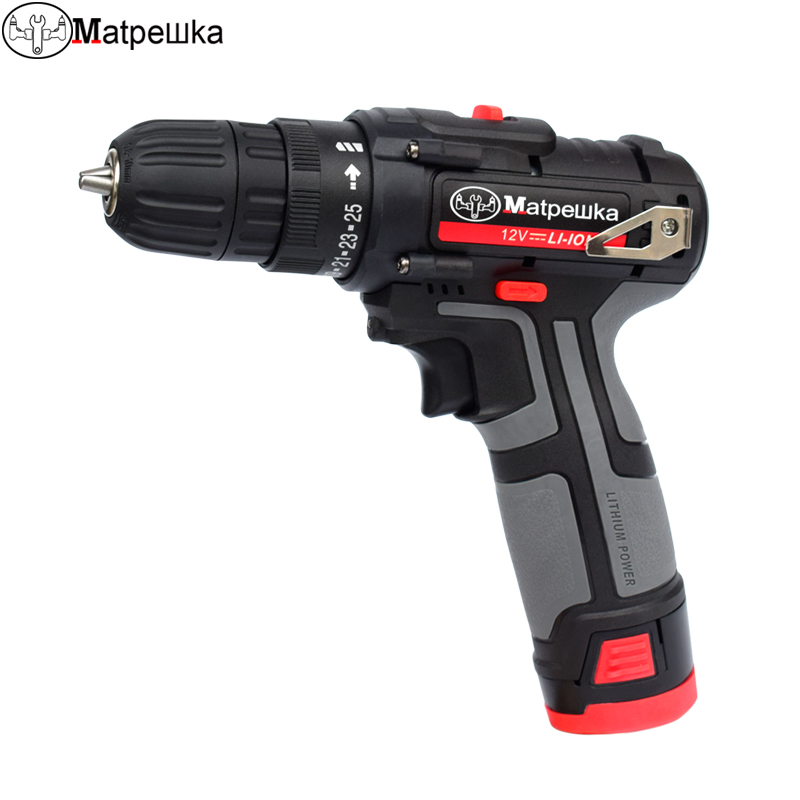 12V Cordless Electric Drill mini Electric Screwdriver Rechargeable Lithium Battery Electric Screw Driver Power Tools