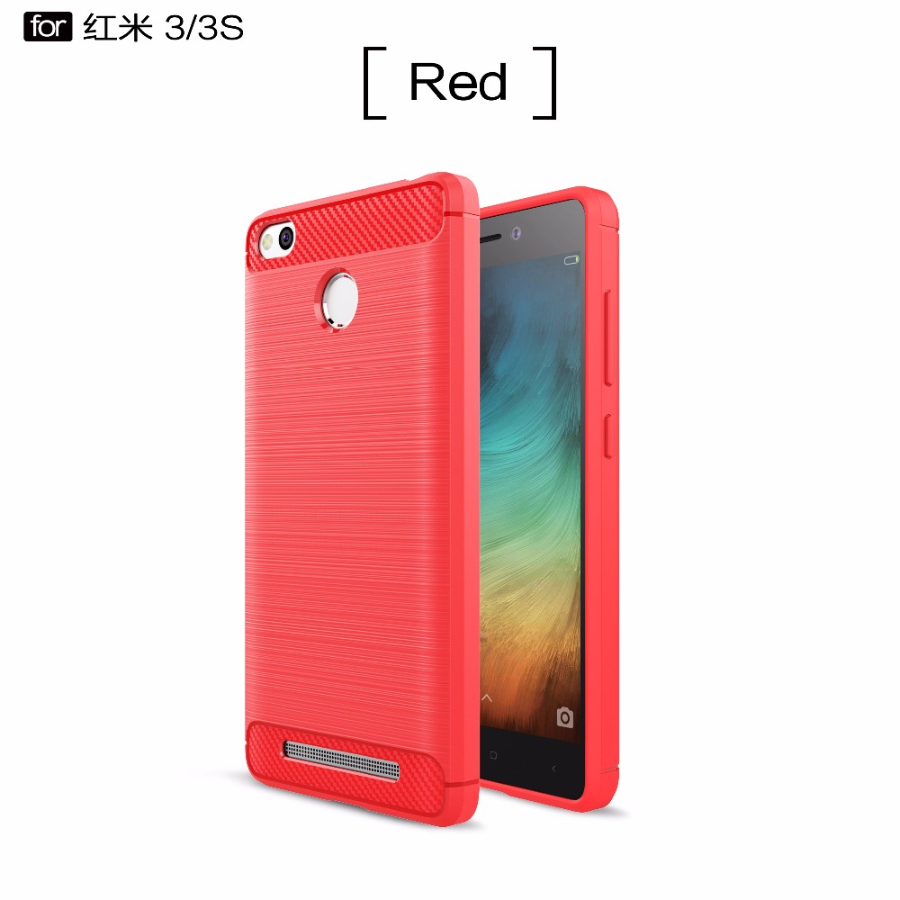 Shockproof Phone Case For Xiaomi Redmi 3s 3pro Wire Drawing Carbon Note 5 Pro Ipaky Fiber Matte Soft Tpu Mobile Cases Cover