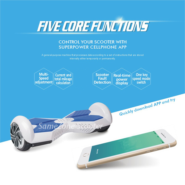 Cheap 6.5 inch 2 Wheel Self Smart Balance Unicycle Electric Standing Scooter Hoverboard electric skateboard bluetooth speaker