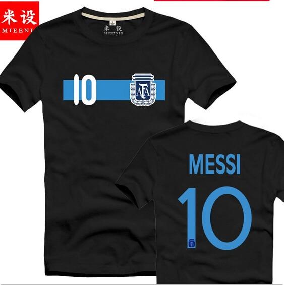 timeless design 8627d 82e8d US $15.0 |Free Shipping Argentina football t shirt #10 ctrtoon MESSI  Argentina World Cup soccer jersey Classic cartoon football t shirt-in  T-Shirts ...