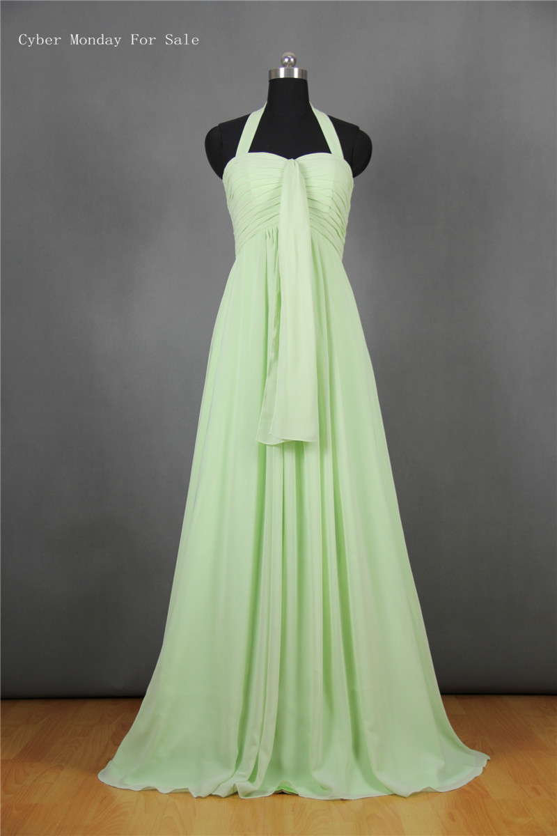 Compare prices on lime green chiffon bridesmaid dresses online lime green halter bridesmaid dresses high quality chiffon brides maid dress free shipping real photos ombrellifo Choice Image