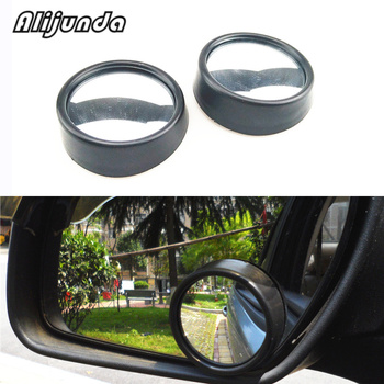 2 PCS Rental car Blind Spot Dead Zone Mirror Rearview Mirror Small Round Mirror Auto Side 360 Wide Angle Round Convex mirror image