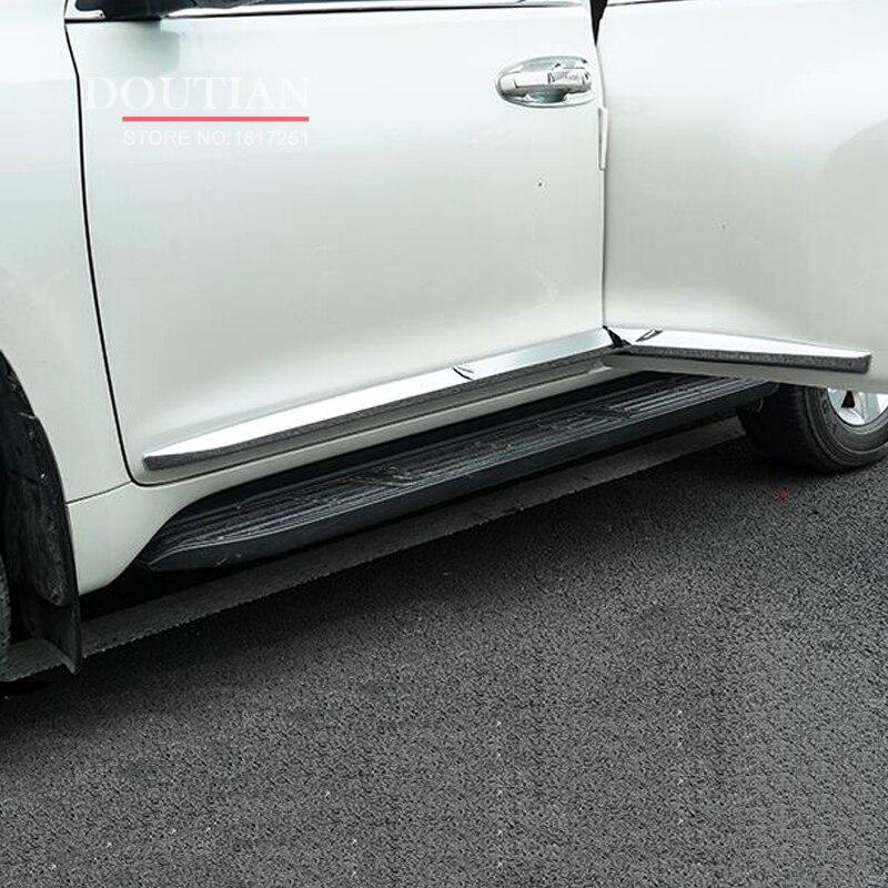 Pour Toyota Prado FJ150 LC150 2018 ABS Chrome garniture de moulure latérale de porte 4 pièces accessoires de voiture style