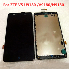 Top Quality LCD Display + Touch Screen Digitizer Assembly with Frame For ZTE Red Bull V5 U9180 V9180 N9180 phone Replacement