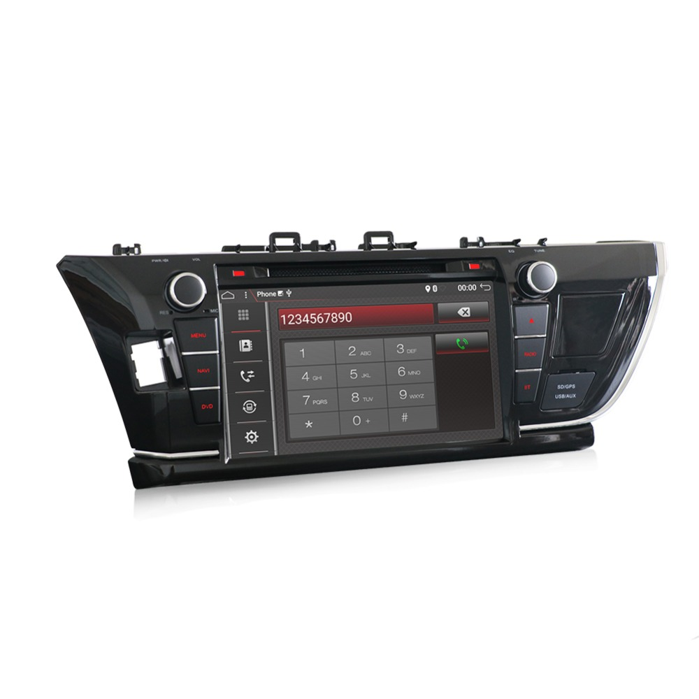 For Toyota Corolla 2013-2017 2 DIN car DVD player with GPS Radio stereo Android 7 Capacitive Screen Audio multimedia navigation