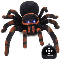 Abbyfrank Realistic Electronic Fake Remote Control Spider Miniature Toys Model Similation Prank Trick Anti Stress Toy Gadgets