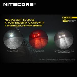 Image 4 - ホット販売nitecore NU32 cree XP G3 S3 led 550ルーメン高性能充電式ヘッドランプ内蔵リチウムイオン電池