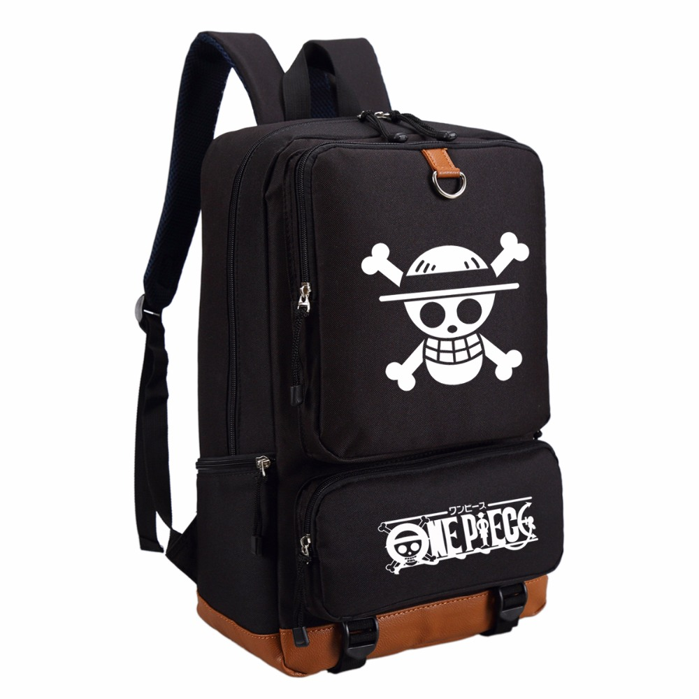 WISHOT  One Piece Luffy  Backpack Cartoon Fashion Casual Backpack Teenagers Men Women's Student School Bags Travel Bag