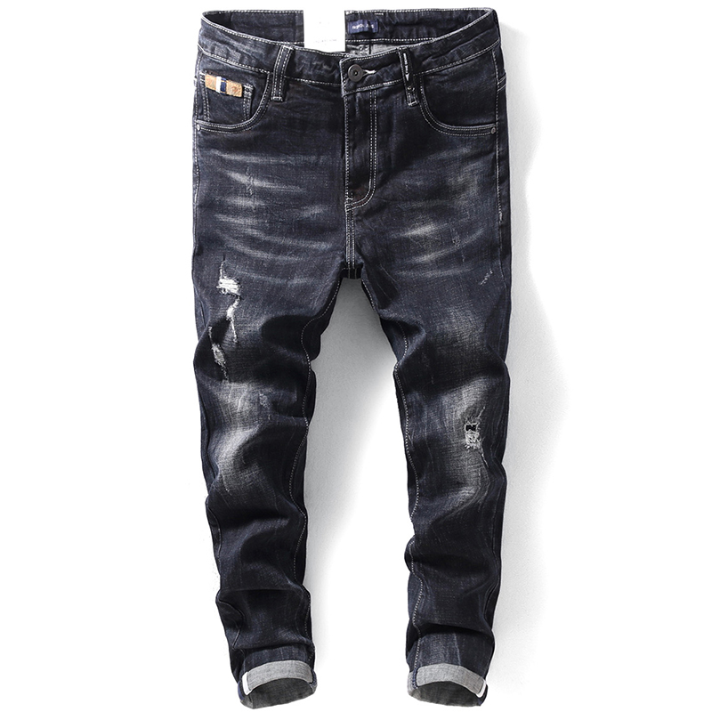 BOLUBAO Men Simple Casual jeans Black Slim Denim Casual Male High Quality Jeans Mens Jeans