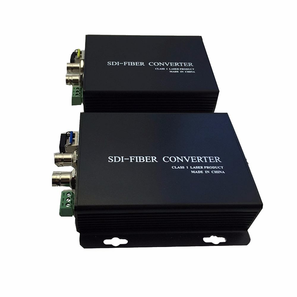 3G-SDI Video Digital Optical Converter, 1Ch 3G-SDI Video, Single Mode Single Fiber, 20KM