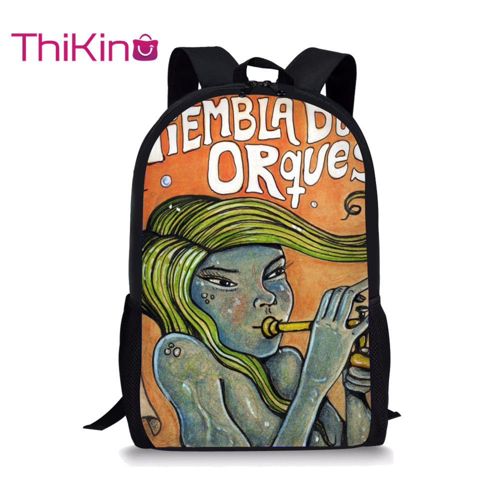 Thikin the Art of Abstract School Bag for Teenager High School Backpack Girls Travel Package Shopping Shoulder Bag Women Mochila in Backpacks from Luggage Bags