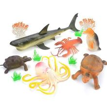 Sea Animal Model Cute Marine Animal Toys Shark for Kids Gift easyway sea life gray shark great white shark simulation animal model action figures toys educational collection gift for kids