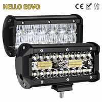 HELLO EOVO LED Bar 7 pulgadas Barra de luz LED luz de trabajo para conducir fuera de carretera barco coche Tractor camión 4x4 SUV ATV 12V 24V fuera de carretera