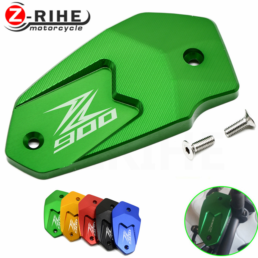 Motorcycle Accessories For Kawasaki ER6N ER6F Z800 NINJA Z650 Versys650 Z900 Brake Fluid Tank Cap Cover Brake Fluid Reservoir 17 motorcycle brake fluid reservoir clutch tank oil fluid cup for ktm 125 200 390 duke bmw s1000rr r1200gs kawasaki er6n ninja 300