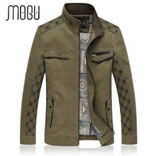 2016 New Cotton Jacket Men Stand Collar Casual Military Jacket Good Quality Winter Jacket Men Large Size Jacket Army Green