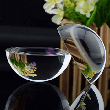hbl New 120mm/150mm Paperweight Half Sphere Ball Magnifiers Glass Clear Crystal Ball for Home Decor Ornament Gifts