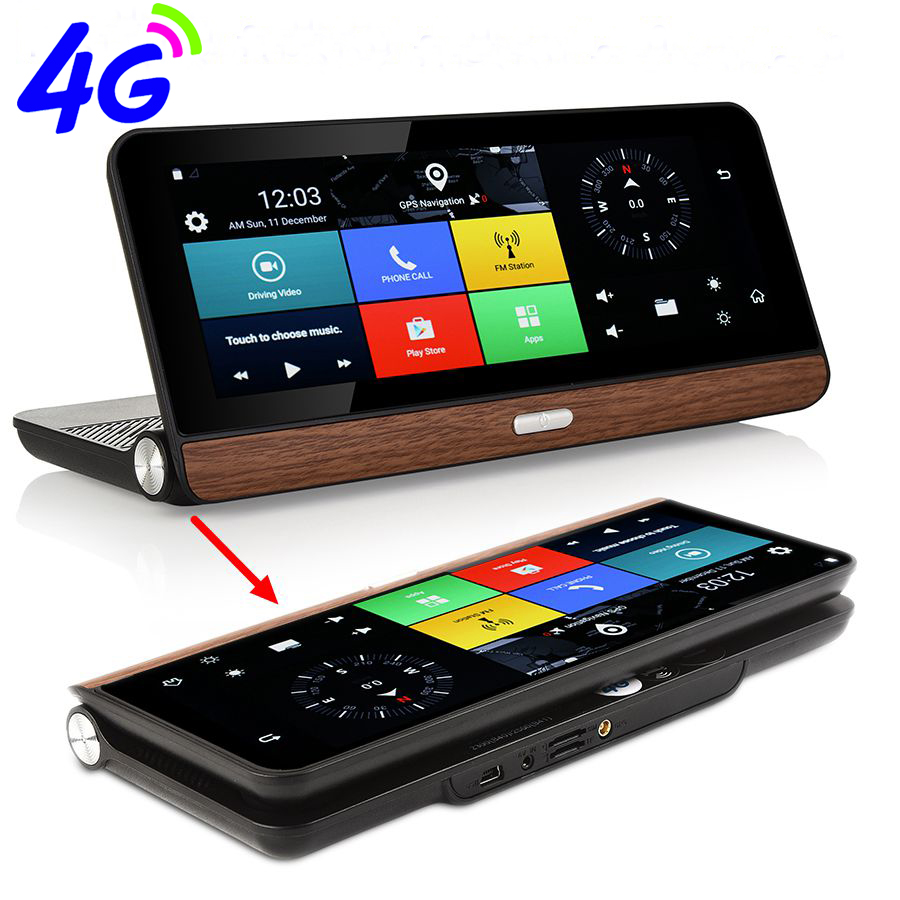 Otstrive 8 inch 4G Bluetooth Phone Android 5.1 WiFi GPS Navigation Full HD 1080P DVR 1G RAM 16G Rear View Dual Camera Video DVR