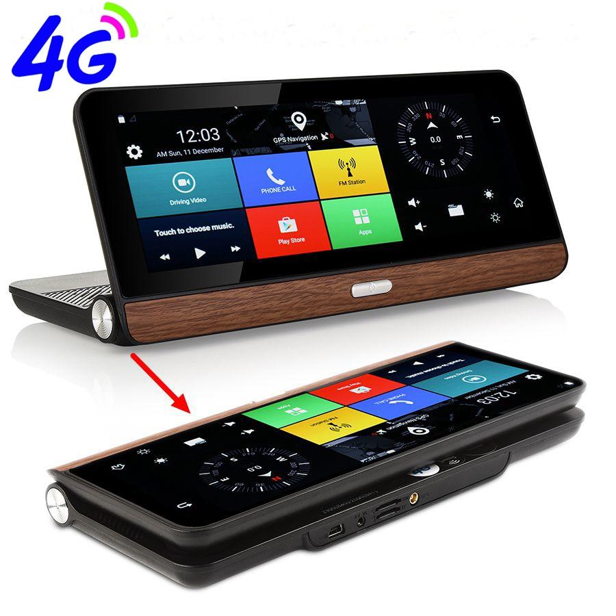 Otstrive 8 pollice 4g Bluetooth Del Telefono Android 5.1 WiFi di Navigazione GPS Full HD 1080 p DVR 1g di RAM 16g di Retrovisione Video di Doppia Fotocamera DVR