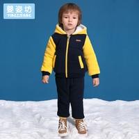 2018 Winter Boys Baby Casual Sports Set Cartoon Long Sleeve Hooded Clothing Sets Toddler Boys Clothing