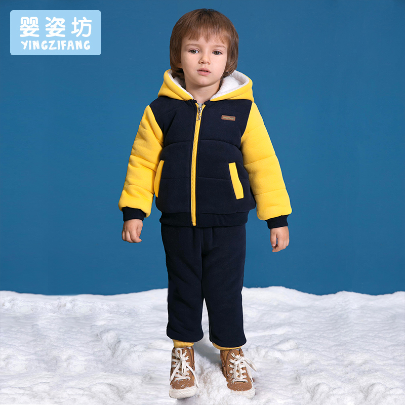 2018 Winter Boys Baby Casual Sports Set Cartoon Long Sleeve Hooded Clothing Sets Toddler Boys Clothing Children Set long sleeve sports maternity hooded set winter twinset thickening plus velvet clothing