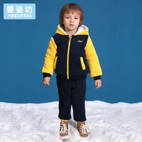 2018 Winter Boys Baby Casual Sports Set Cartoon Long Sleeve Hooded Clothing Sets Toddler Boys Clothing Children Set