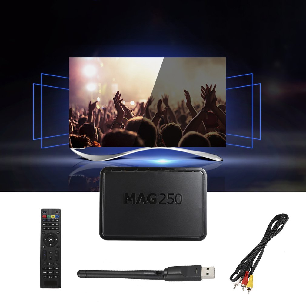 Mag250 HD Network Set top Box with wireless WIFI Set Top Box HDMI Composite + stereo A/V output Media Player