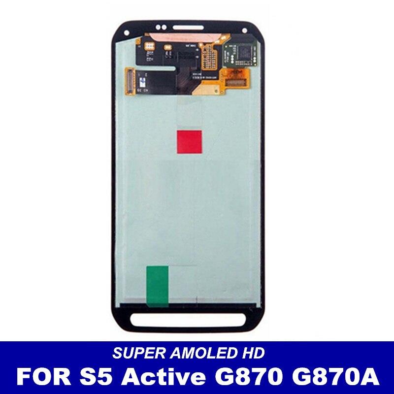 imágenes para 100% Prueba De Super AMOLED pantalla Para Samsung Galaxy S5 G870 Activo Pantalla LCD Touch Screen Reemplazo Digitalizador Asamblea