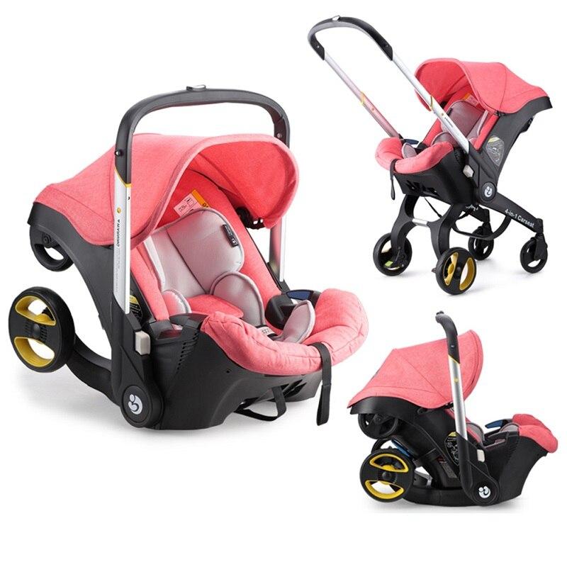 Kidlove 4 en 1 siège auto poussette bébé chariot panier Portable système de voyage poussette avec siège de sécurité pour 0-3 ans bébé