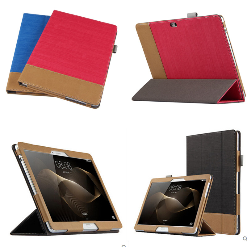 Fashion Splice Colorful Book Stand Folio PU Leather Case Cover For Huawei MediaPad M2-A01W M2-A01L M2 10.0 10.1 Tablet PC