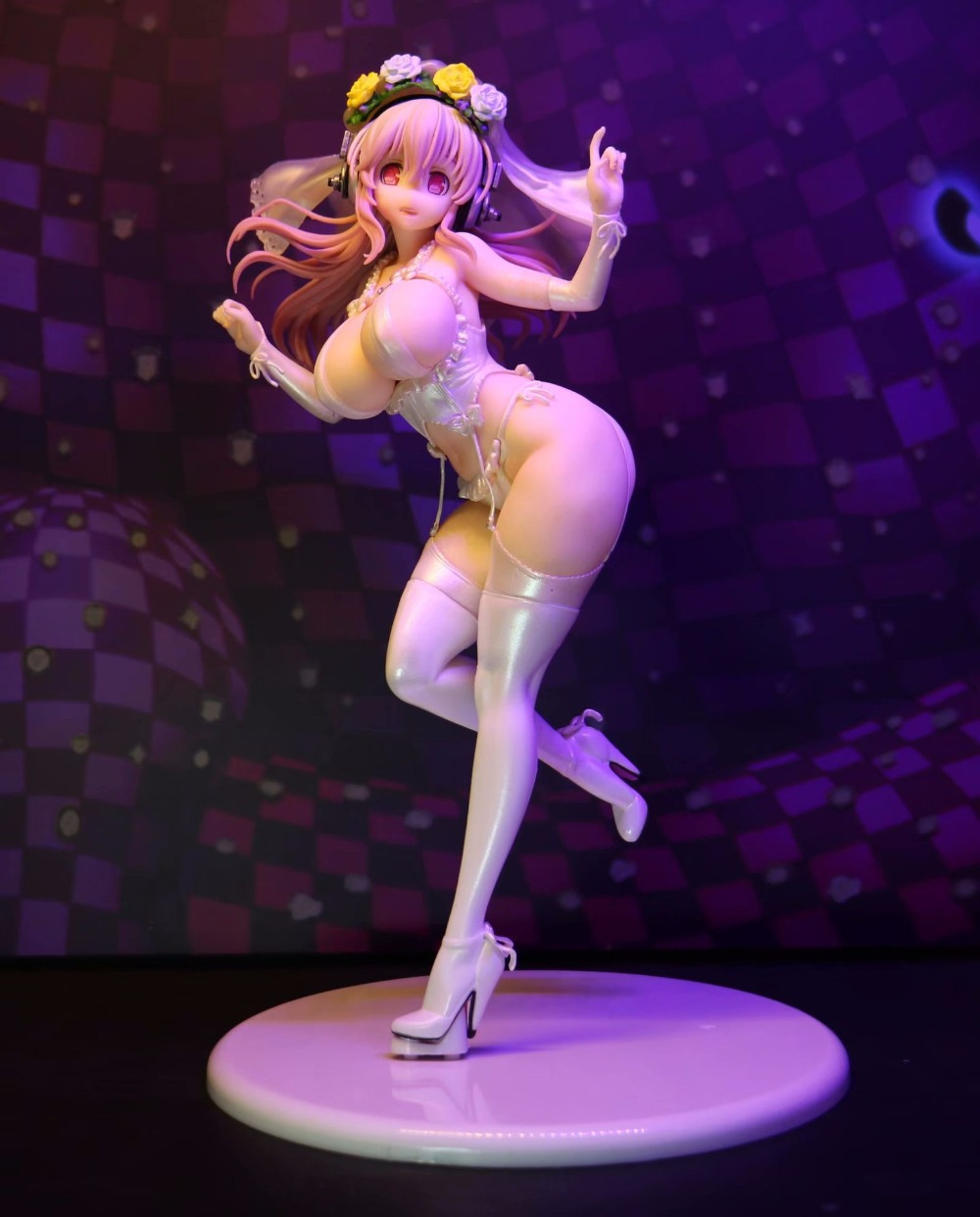 24cm <font><b>Japon</b></font> <font><b>Sexy</b></font> Girl <font><b>Anime</b></font> Super Sonico 10th Anniversary Wedding Bikini Ver. PVC <font><b>Action</b></font> <font><b>Figure</b></font> Collectible Model Toys For Gift image