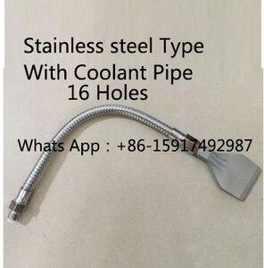Image 3 - Плоская Насадка для воздуходувки 1/4 дюйма из нержавеющей стали и алюминиевого сплава, насадка для распыления водяного тумана