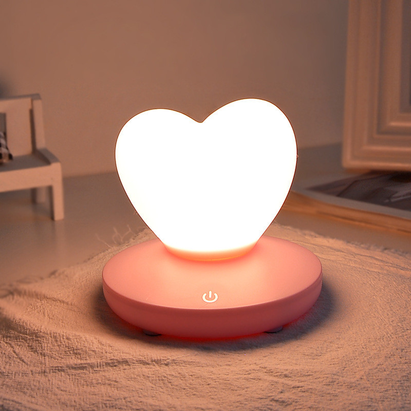 Led Night Lights 2019 New Style 1pcs Love Heart Girl Silica Night Lamp Touch 3 Brightness Dimmable Usb Charge Rechargeable Table Lamp Night Light For Bedroom