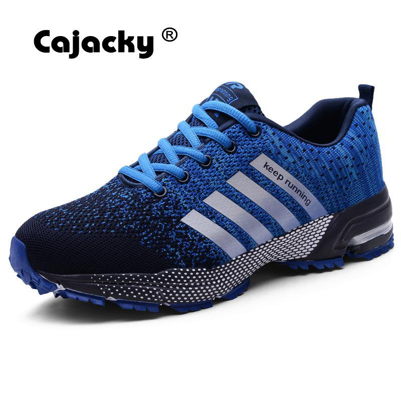 Cajacky High Quality Men Shoes Plus Size 47 Men Casual Shoes 2018 Autumn Winter Sneakers Lightweight Breathable Male Trainers 46 plus size 42 men denim jeans new 2017 autumn brand afs jeep loose free type breathable male casual clothing pantacourt homme