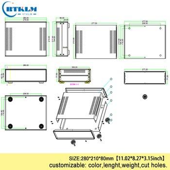 Железная распределительная коробка на заказ, корпус для рабочего стола, железная электронная коробка для проекта, домашняя печатная плата, ...